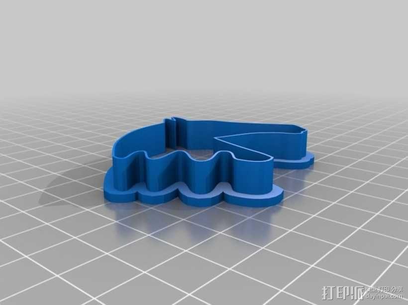 马形饼干模具切割刀 3D模型  图4