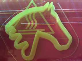 马形饼干模具切割刀 3D模型