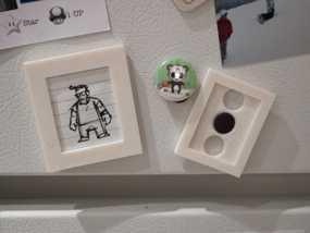 定制化相框形冰箱磁铁 3D模型