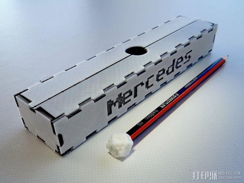 可折叠形文具盒 3D模型  图1