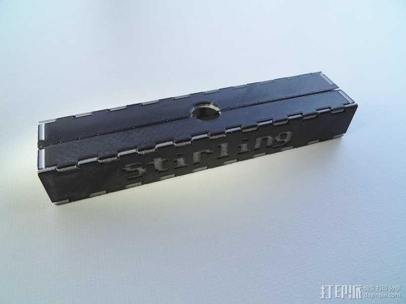 可折叠形文具盒 3D模型  图6