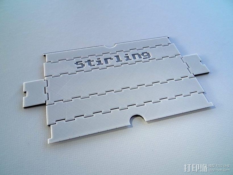 可折叠形文具盒 3D模型  图4