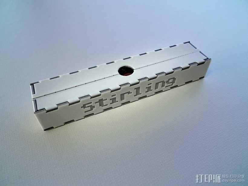可折叠形文具盒 3D模型  图5