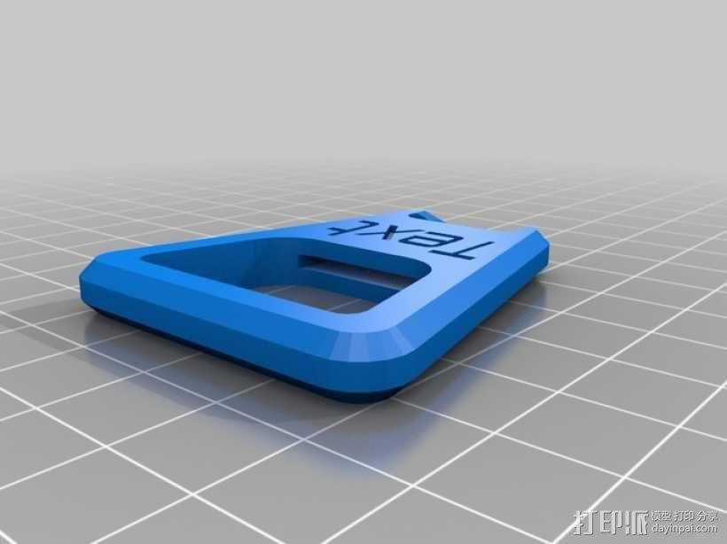 定制化开瓶器 3D模型  图2