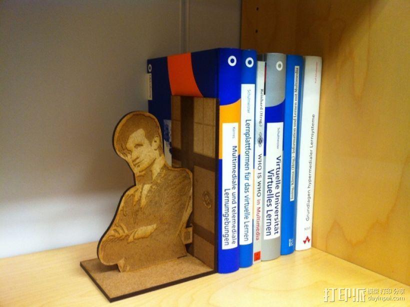 神秘博士主题书立 3D模型  图1