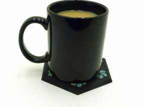 花形六边形杯托 3D模型
