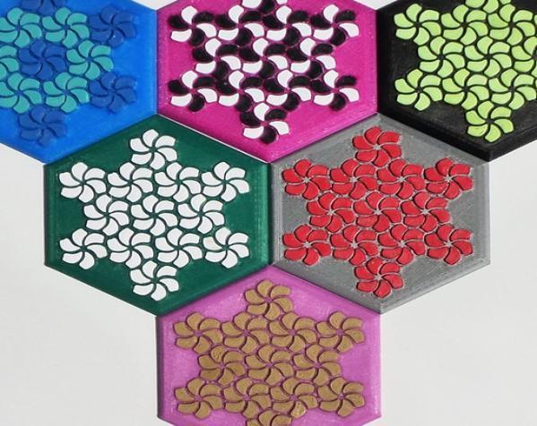 花形六边形杯托 3D模型  图5