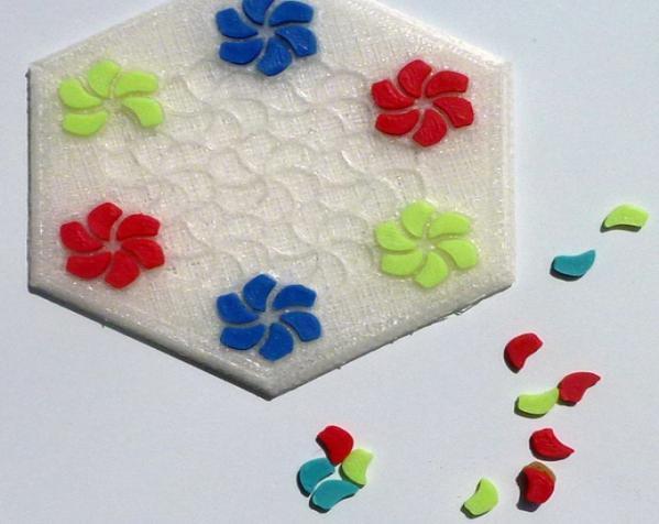 花形六边形杯托 3D模型  图7