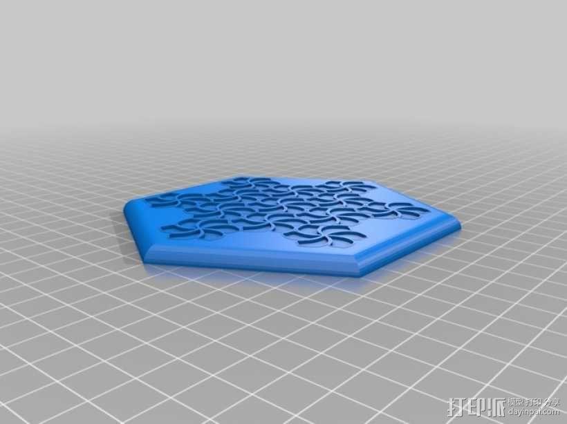 花形六边形杯托 3D模型  图11