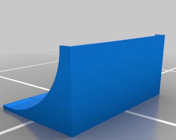 带插座的迷你架子 3D模型  图2