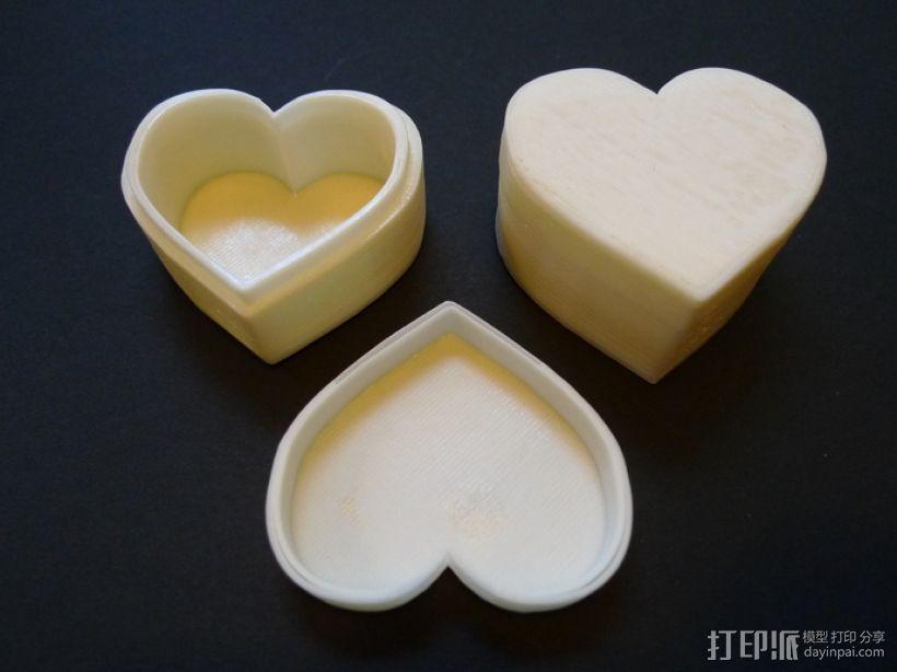 心形储物盒 3D模型  图2
