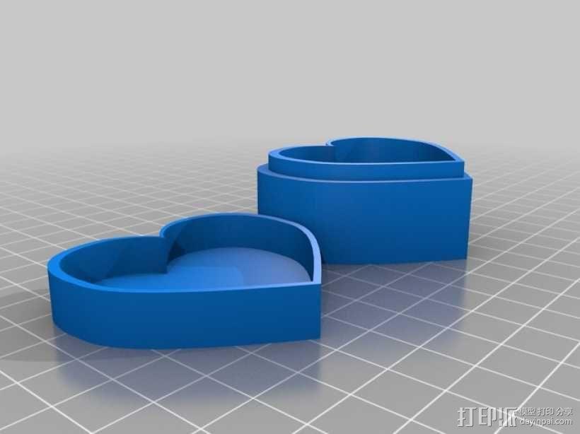 心形储物盒 3D模型  图3
