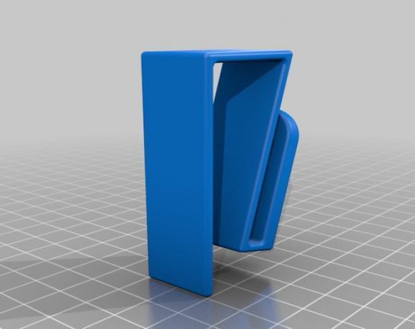 简易橱柜挂钩 3D模型  图2