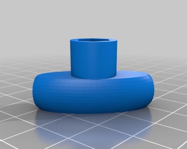 M5蝶形螺母 3D模型  图5