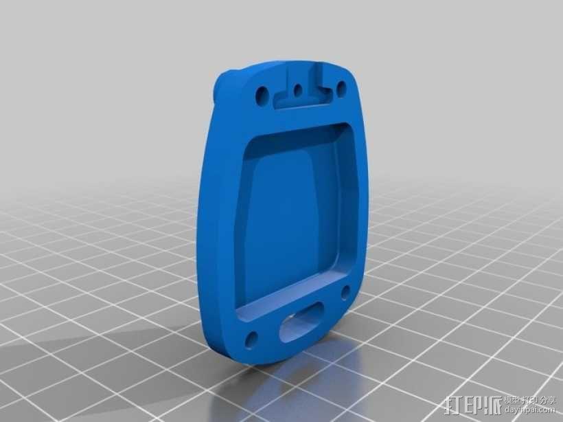 丰田钥匙盒 -- 远程按钮 3D模型  图3