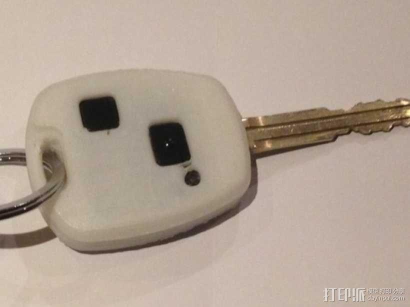 丰田钥匙盒 -- 远程按钮 3D模型  图5