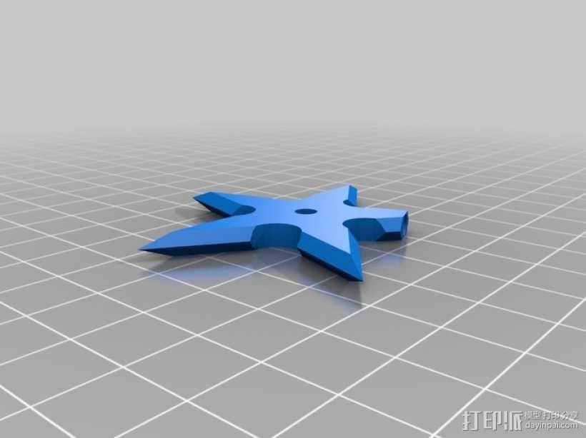 手里剑冰箱贴 3D模型  图2
