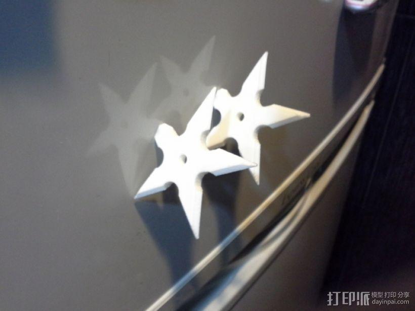 手里剑冰箱贴 3D模型  图1