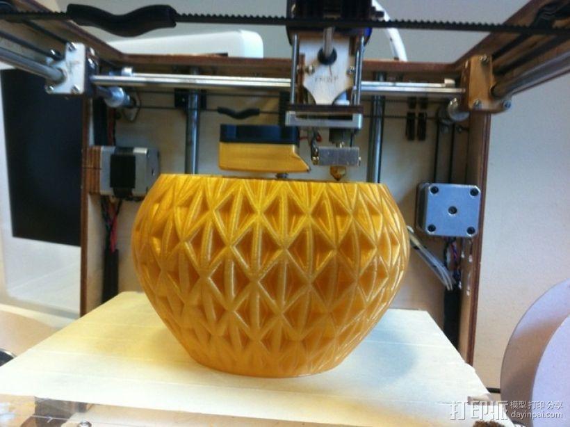 迷你圆形花瓶 3D模型  图4