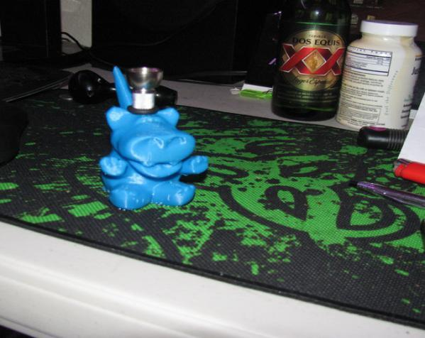 河马形吸烟用具 3D模型  图9