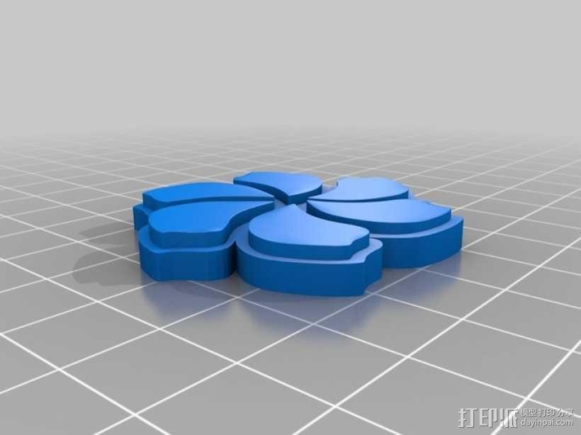 定制化花形圆形托盘 3D模型  图4