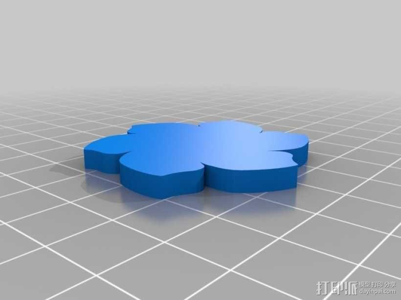 定制化花形圆形托盘 3D模型  图5