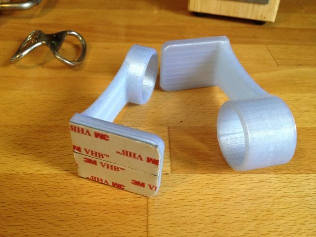 迷你纸巾卷纸架 3D模型  图1