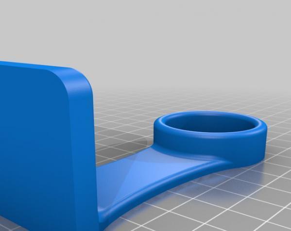 迷你纸巾卷纸架 3D模型  图2