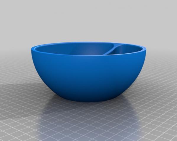 迷你燕麦碗 3D模型  图1