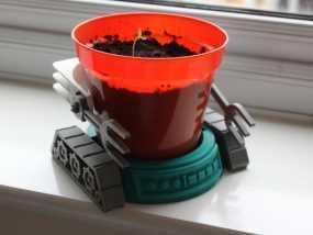 机械化花盆底座 3D模型