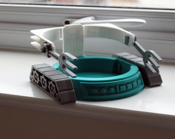 机械化花盆底座 3D模型  图2