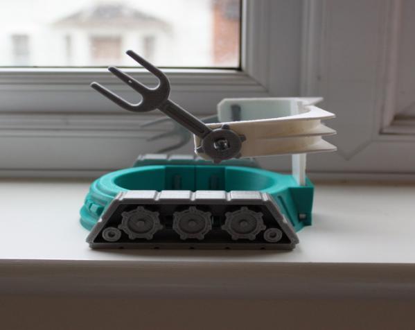 机械化花盆底座 3D模型  图4