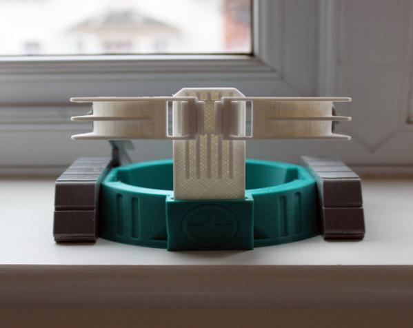 机械化花盆底座 3D模型  图3