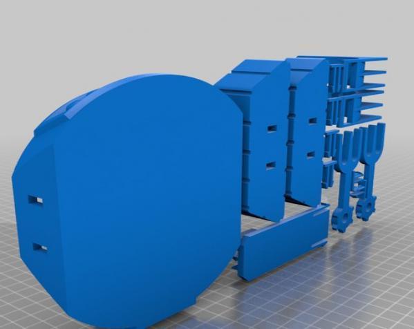 机械化花盆底座 3D模型  图7