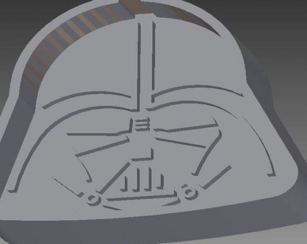 黑武士饼干模具切割刀 3D模型  图1