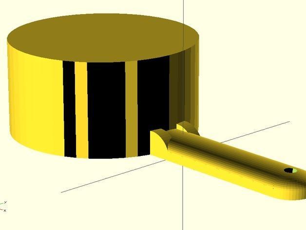 定制化量杯 3D模型  图1