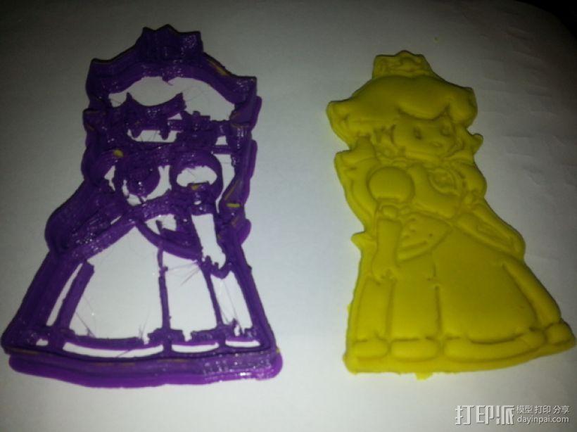 碧奇公主饼干模具切割刀 3D模型  图2