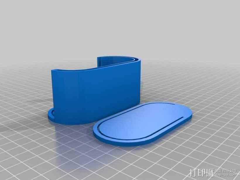 迷你椭圆形小盒 3D模型  图5