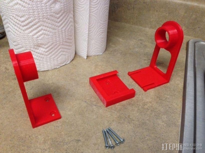 纸巾架 3D模型  图2