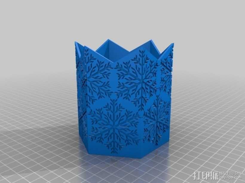 雪花形灯罩 3D模型  图1