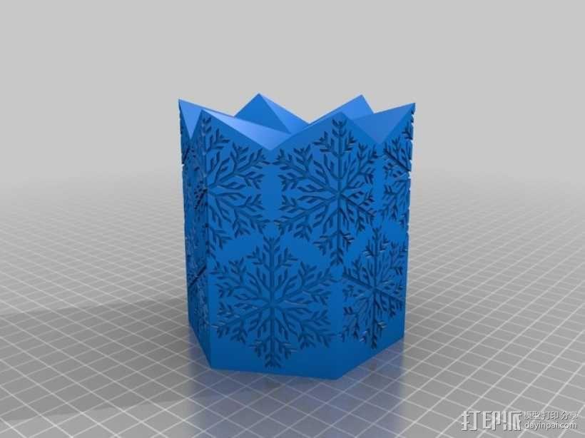 雪花形灯罩 3D模型  图2
