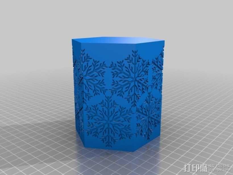 雪花形灯罩 3D模型  图3