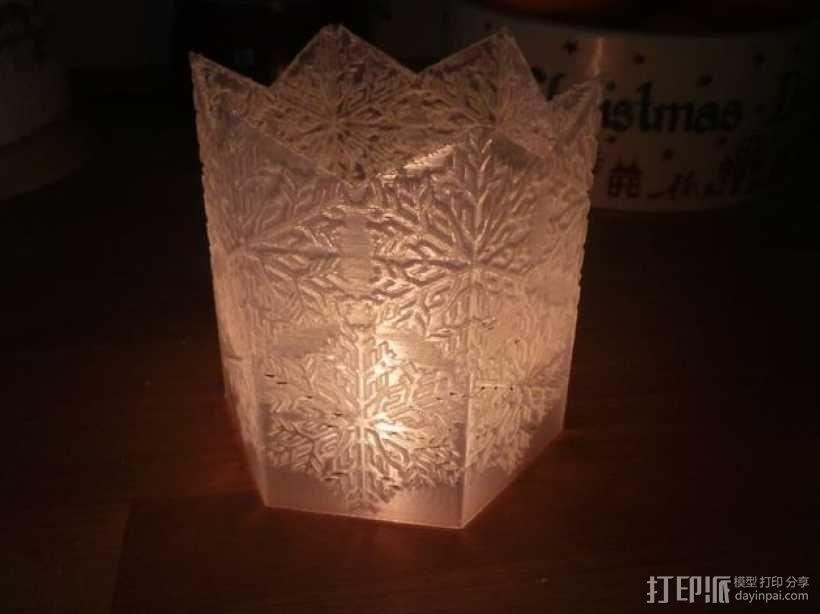 雪花形灯罩 3D模型  图4