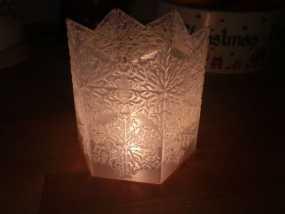 雪花形灯罩 3D模型