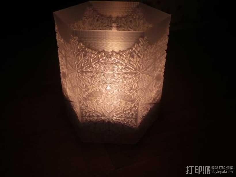 雪花形灯罩 3D模型  图6