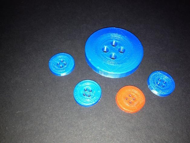 经典4孔纽扣 3D模型  图2