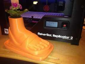 脚形花盆 3D模型