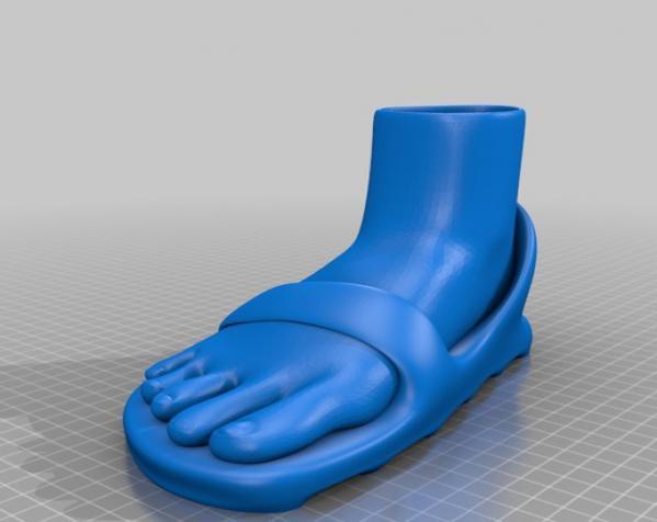 脚形花盆 3D模型  图2
