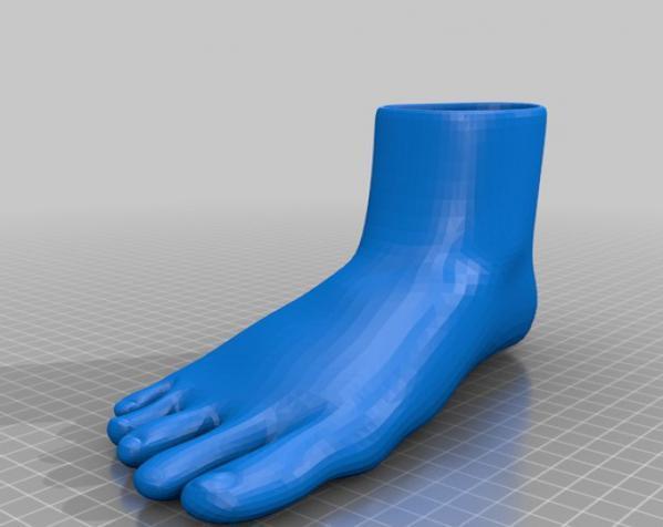 脚形花盆 3D模型  图8