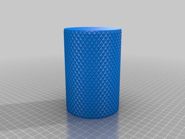 滚花圆形笔筒 3D模型  图5